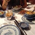 salade bo bun, poulet thai, brochettes de sole