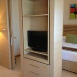 Rotating tv from lounge/bedroom double room