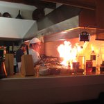 Flambe in the kitchen