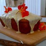 Dairy free citrus drizzle cake