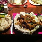 mixed tandoor sizzler and naan