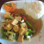 Garlic Pepper Stir Fry Tofu