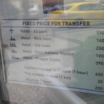 taxi rates from novotel just next door to ibis