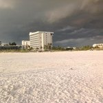 Sitting on the beach watching a storm brewing