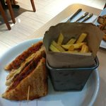 great sandwich & fries