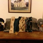 Our wet felted scarves and fashion hats at the wonderful Stafe