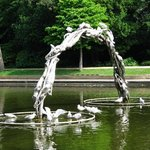 Seagulls make the most of this sculpture
