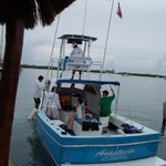 Our Whale Excursion Boat with On Isla Mujeres