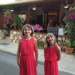 the girls at there favourite Paphos restaurant