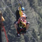 Tandem ride on zip for little guy