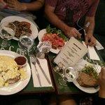 scrambled eggs, mushrooms on toast, bruschetta and toasted sandwiches