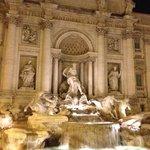 Trevi fountain a few minutes walk away