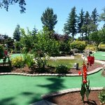 Having a great day at Eagle Landing, Putt putt course!