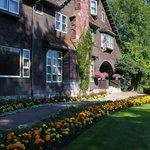 The gardens enhance the home