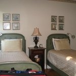 Cute twin beds were very comfortable! Linens nice!