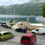 view from our room at Royal Apartments-Korcula, Croatia