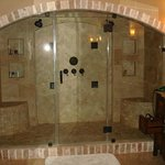 The big 2-person shower in the Heavenly Haven Suite