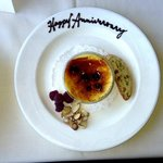 Our Happy Anniversary Creme Brulee