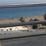 View of the beach from the sun terrace