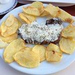 bife Arraioles com queijo de ovelha