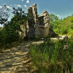walk to the Pont du Gard - ruins of the aqueduct