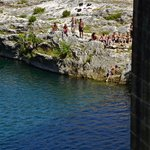 swimming at Pont du Gard