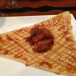Banana and carmel dessert crepe