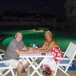 Dinning round the pool