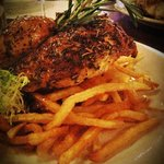 Roasted half chicken with frites