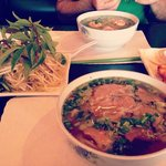 shrimp pho and brisket pho!