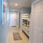 Hallway with bunks.