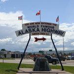 Start of Alaska Highway Dawson Creek B.C. Canada