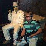 Posing with Al Capone