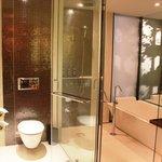 Clear glass bathroom
