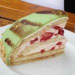 Cream and fruit cake