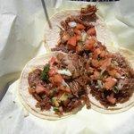 Carne Asada Tortillas Food plate at Ole Ole Mexican Restaurant