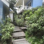 Some of the bungalows. Notice the uneven steps.
