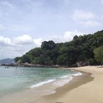 Paradise beach to the south, 20 min drive from the hotel (entrance fee of 150 Bath with chairs)