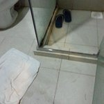 they just left the toilet after fixed the hot shower.
