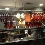 Roasted meat section