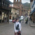 Calle Mantas en Plaza de Armas - Al fondo campanario de La Merced