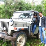 Jay Kumar & Shiva in Forest Department Jeep
