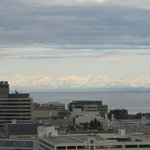 View from 15 floor - the city and the mountains across the inlet