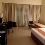 spacious room with balcony overlooking Taal lake and volcano