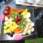 Tropical fruit breakfast