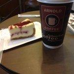 hmmm raspberry cheese cake n iced vanilla latte