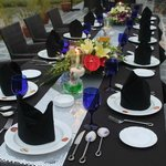 Table setting with padi fiels view
