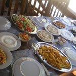Leckere libanesische Speisen