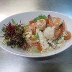SPICY SEA FOOD WITH GRASS NOODLE SALAD.