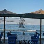 Flisvos beach table